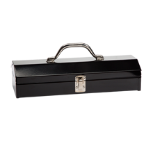 "15"" Metal Utility Toolbox - Black"