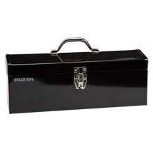 "19"" Metal Toolbox - Black"