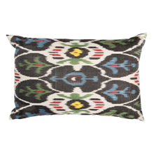 Silk Kava Down-Filled Ikat Pillow - 22 in. x 14 in.