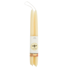 Natural Tapered Beeswax Candles - Set of 2