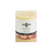 """3"""" x 3.5"""" Beeswax Pillar Candle - Natural"""