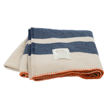 Woolrich Navy Stripe Allegheny Blanket
