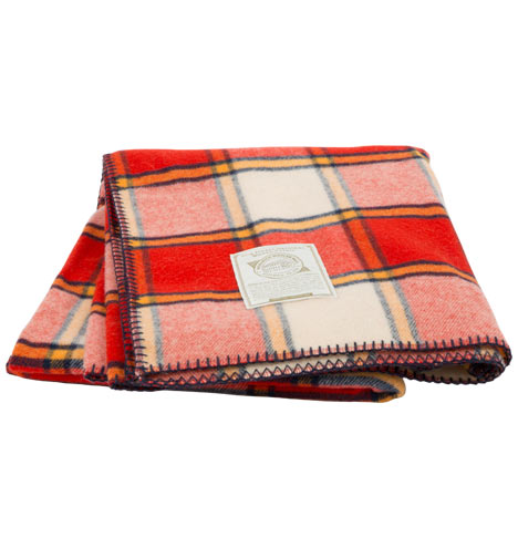 Woolrich Soft Cherry Red Fawn Grove Blanket | Rejuvenation