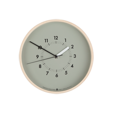 Lemnos Gray Soso Wood Clock