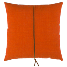 Orange and Slate Zipper Pillow