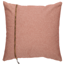 Gray and Spice Zipper Pillow