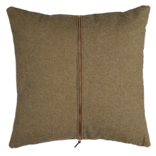 Green and Brown Zipper Pillow