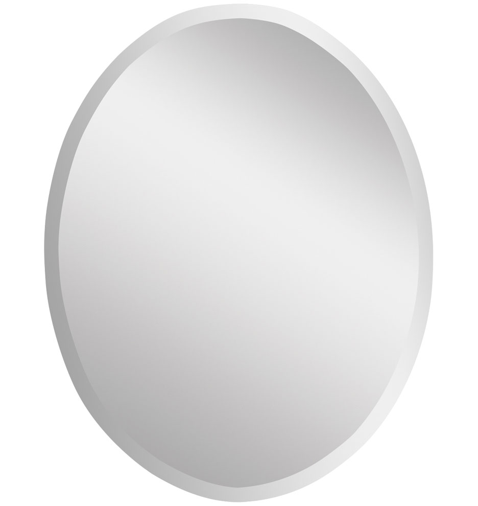 Bath · Bathroom Mirrors; Frameless Oval Mirror, Large. Z013134