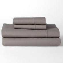 Washed Percale Sheet Set - Gray