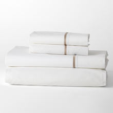 Border Percale Sheet Set - Taupe