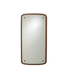 Wood-Backed Rectangle Mirror
