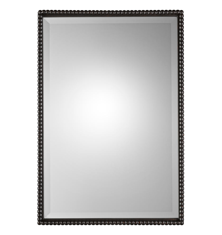 Bath Bathroom Mirrors Beaded Rectangle Mirror Z022296 E1139
