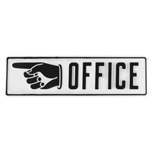 Office with Left-Hand Arrow Sign