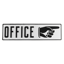 Office Sign with Right-Hand Arrow