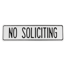 Irwin Hodson No Soliciting Sign