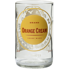 Orange Cream Bottle Glass