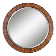 Antiqued Wood Mirror