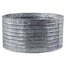 Round Galvanized Steel Planter