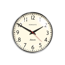 Chrome Schoolhouse Wall Clock