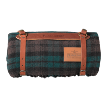 Pendleton Brown Watch Plaid Travel Blanket