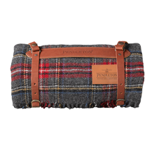 Pendleton Charcoal Stewart Plaid Travel Blanket