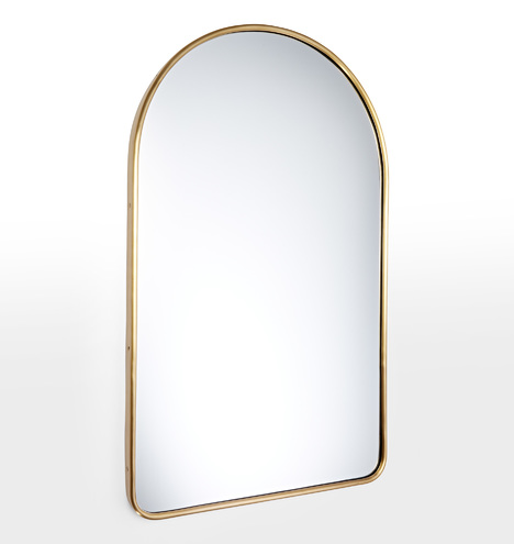 Metal Framed Mirror Arched Rejuvenation