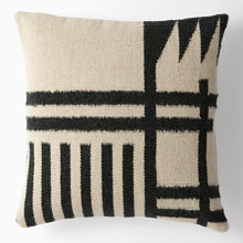 Woven Blocks Wool Kilim Pillow