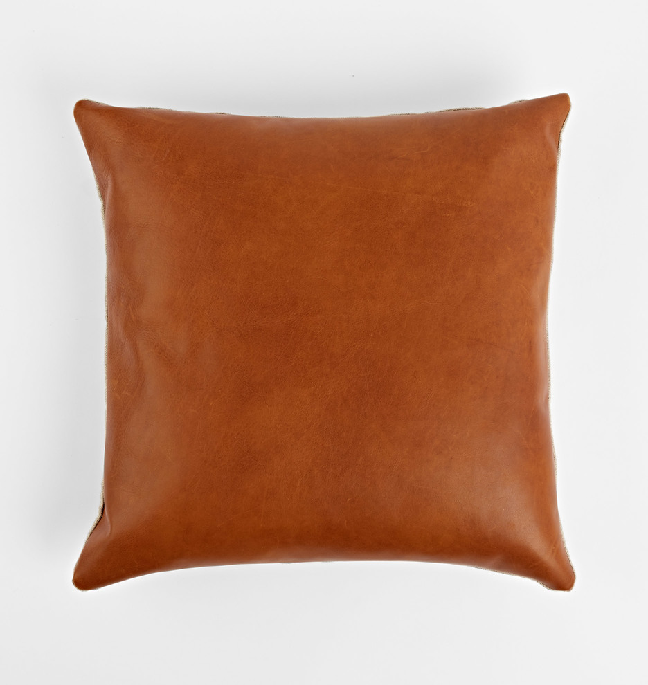 Decorative Pillows Leather : Leather Pillow Cover Rejuvenation
