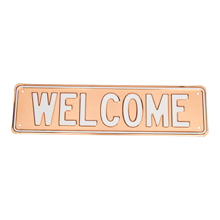 Copper Welcome Sign