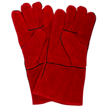 Leather Lodge Fireplace Gloves
