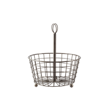 Round Wire Basket with Card Holder