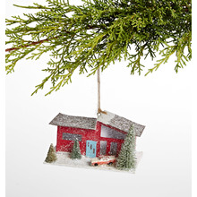 Mid-Century Red House Ornament