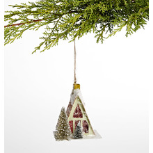 Green A-Frame House Ornament