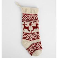 Reindeer Wool Knit Stocking