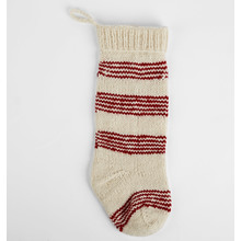 Striped Wool Knit Stocking