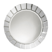 Round Faceted-Frame Mirror