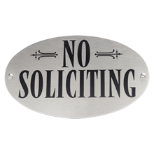 Nixie No Soliciting Sign