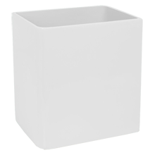 White Lacquered Waste Basket