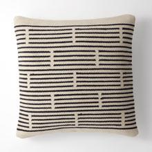 Woven Mohair Broken Stripe Pillow Cover