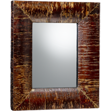 Rectangular Cherry Bark Mirror