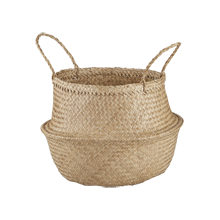 Convertible Seagrass Basket, Medium