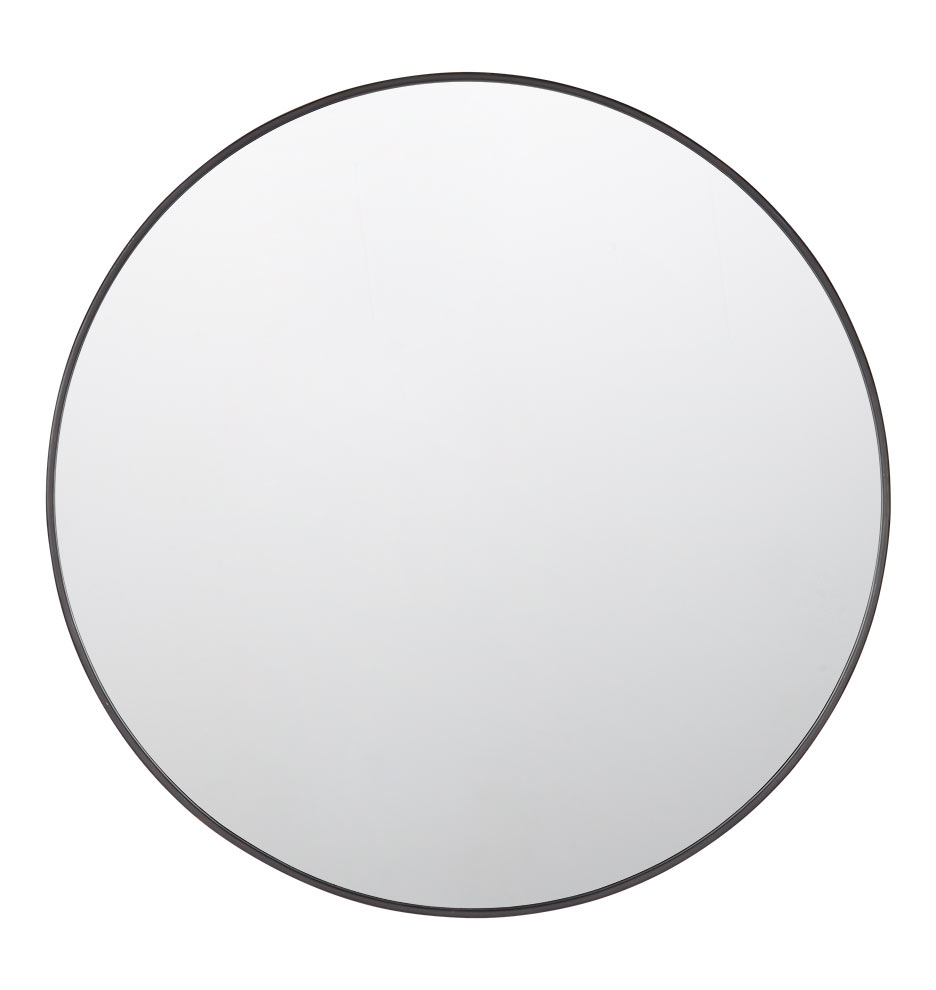 36 metal framed mirror round rejuvenation Round framed mirror