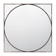 """36"""" Metal Framed Mirror - Round"""