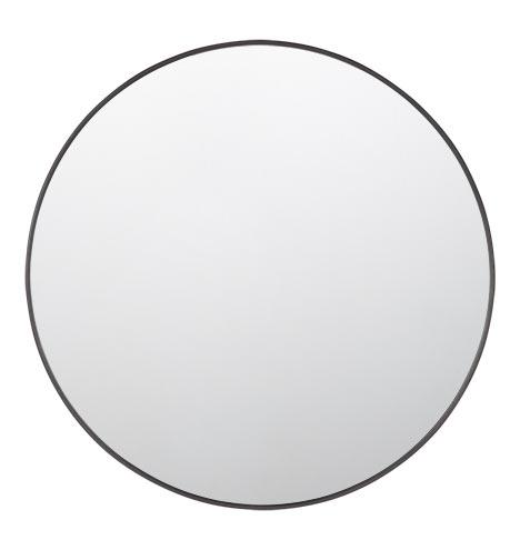 Metal Framed Mirror Round Rejuvenation