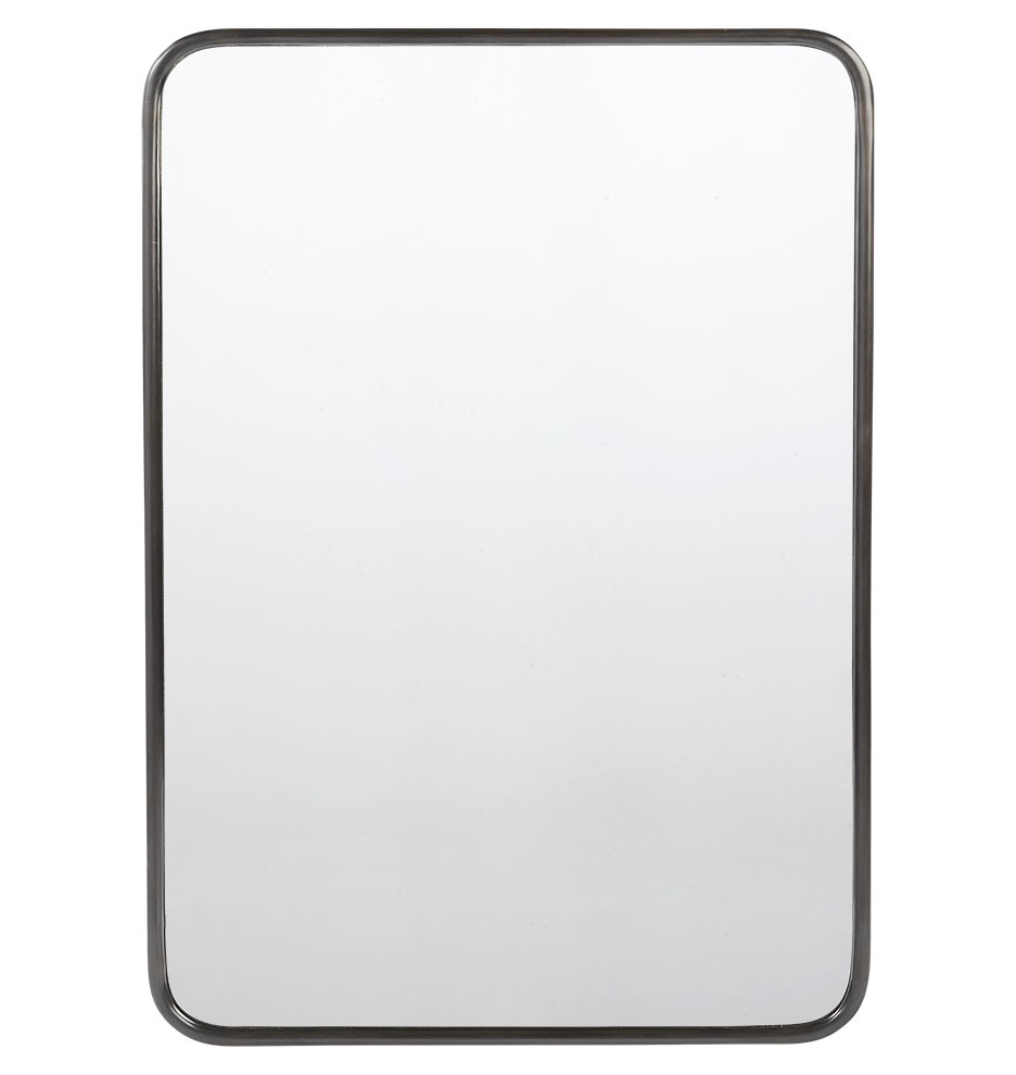 """30"""" x 42"""" Metal Framed Mirror - Rounded Rectangle"""