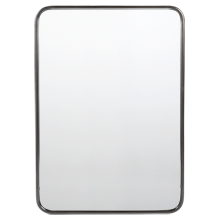 metal framed mirror rounded rectangle