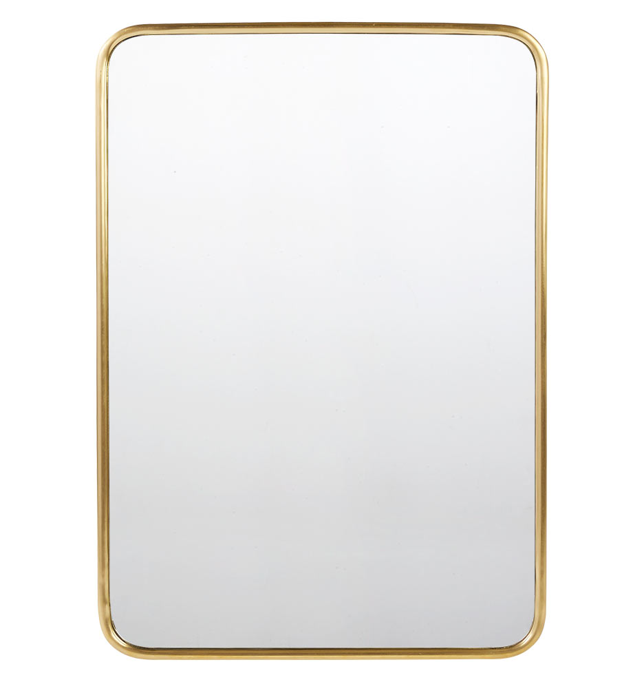30 x 42 metal framed mirror rounded rectangle for Metal frame mirror