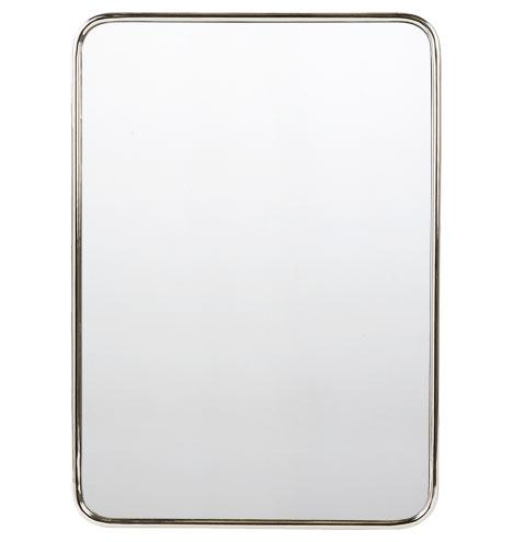 Metal Framed Mirror Rounded Rectangle Rejuvenation
