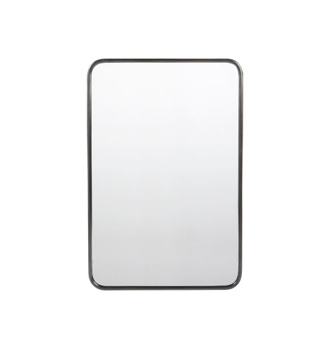 Rounded Rectangle Metal Framed Mirror | Rejuvenation