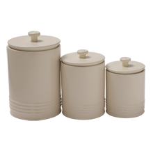 Numbered Earthenware Canisters